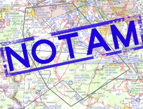 Flugbeschränkungen westlich des Rheins – check NOTAM !